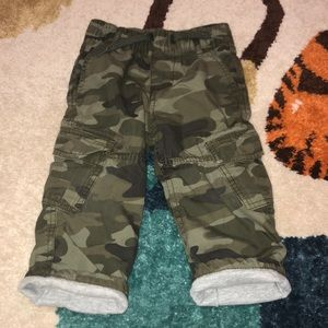 Toddler camouflage cargo pants